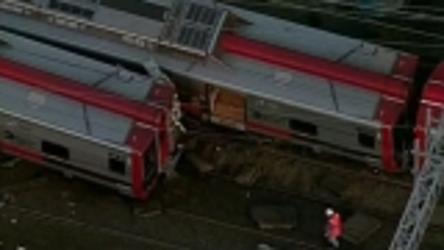 News video: Commuter trains collide injuring up to 60 people