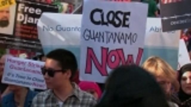 News video: Rally marks 100 days of Guantanamo hunger strike