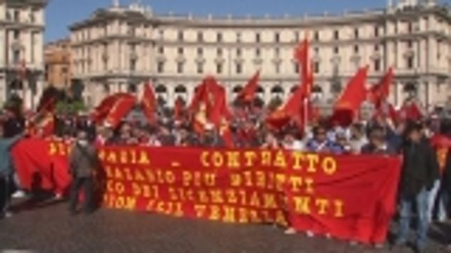 News video: Rome protest turns up heat on Letta