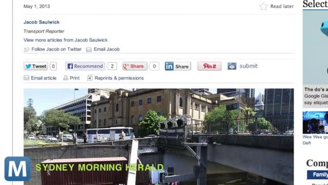 News video: Sydney Testing Water-Curtain pop-up Stop Signs